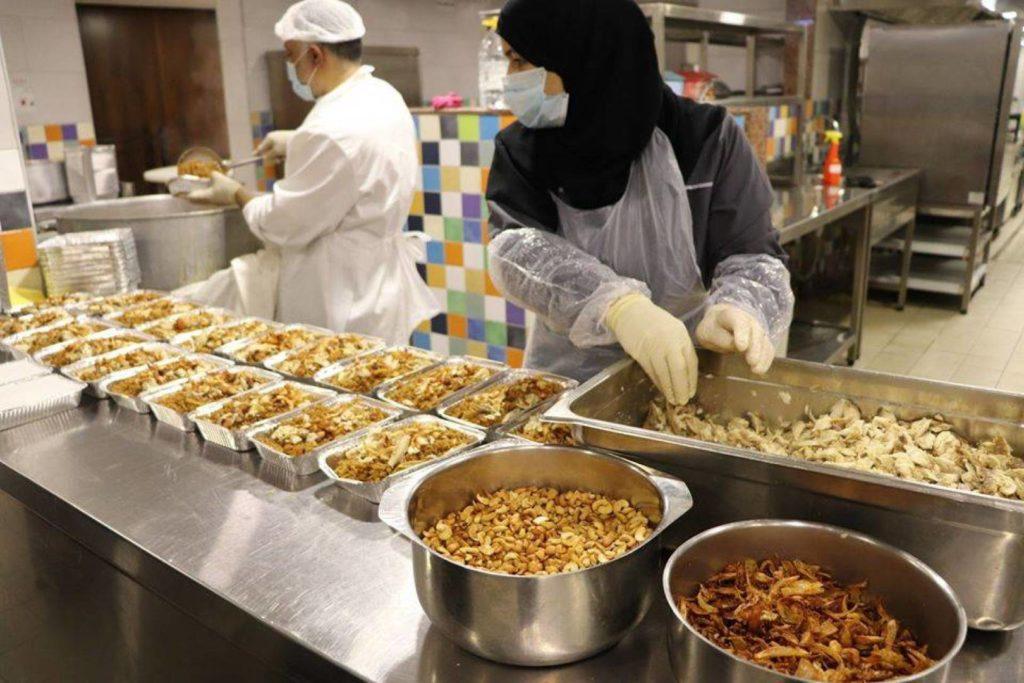 مطبخ جمعية المبرات الخيرية في شهر رمضان المبارك