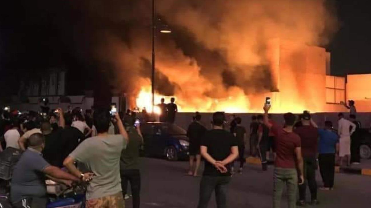 حريق مستشفى ابن الخطيب في بغداد العراق